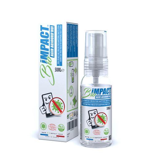 BIOIMPACT 50ml - Spray désinfectant pour ecran norme NF EN14476 - Made in France