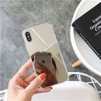 coque iphone x miroir argent