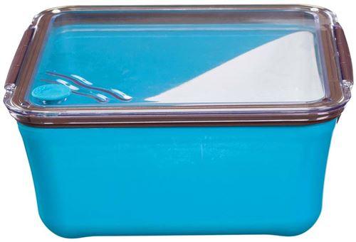 Take Away - Grande lunch box avec compartiment amovible Bleu