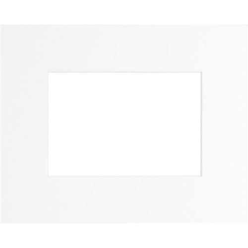 Passe-partout blanc 40x50 cm ouverture 24x30 cm, Carton - marque française