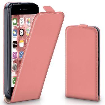 coque iphone 7 clapet rose