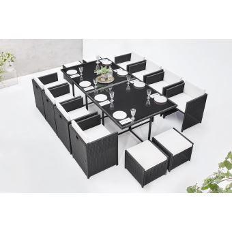 BOBOCHIC Family - Salon de jardin encastrable 12 places - en résine ...