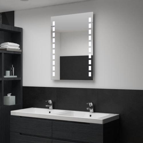 Miroir mural à LED pour salle de bains 60 x 80 cm (144697)