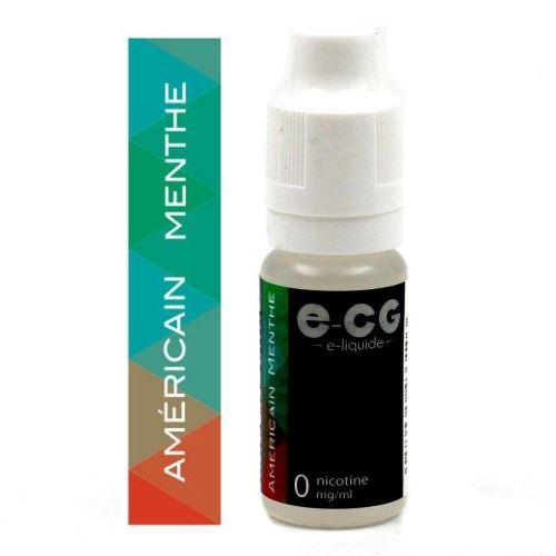 Lot de 5 Flacons E-CG - Américain Menthe 0 mg/ml