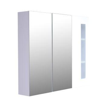 Armoire avec miroir en bois rangement salle de bain ...