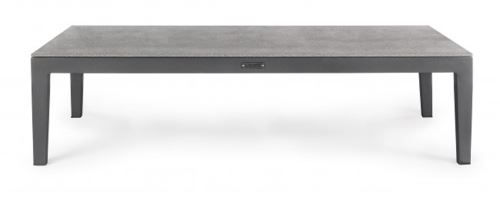 Table basse coloris anthracite - Dim : L 110 x P 60 x H 28,5 cm -PEGANE-