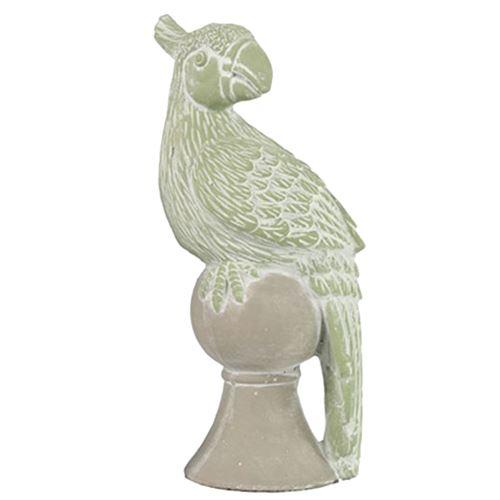 Statuette Perroquet - poterie 23 cm