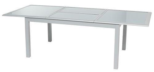 Table Extensible Verre Trempe Coloris Silver Mat Dim L 160 240 X