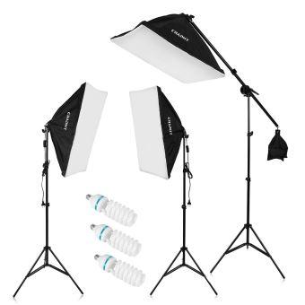 135w X25Support '' 20 80 Lampe Up Auto Continu Led Éclairage Lumière Kit Studio Softbox Pop Photo PuOkZiX
