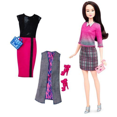 7db723b0096 Mattel - dtd99 - barbie - fashionistas - tenue chic - poupée mannequin +  accessoires de