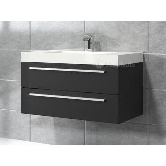 Meuble de salle de bain Rome 80cm lavabo bois noir – Armoire de rangement  Meuble lavabo