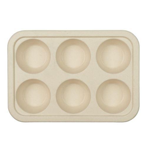 4 moules cuisson muffin canne à sucre 26x19x4cm