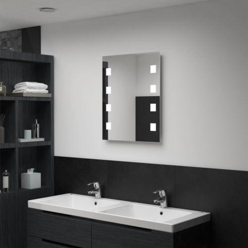 Miroir mural à LED pour salle de bains 50 x 60 cm (144699)