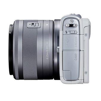 98ff1c2d66c161 -117€99 sur Canon EOS M100 Appareil Photo Hybride + EF-M 15-45mm F 3.5-6.3  is STM - Blanc - Appareil photo numérique compact - Achat   prix   fnac
