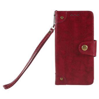 Etui en PU 5-slot huile vintage rouge cire pour votre Aquaris U Lite,U -  Etui pour téléphone mobile - Achat   prix   fnac 243c3835832