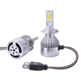 De Blanc Xcsource Hid Xénon Refroidissement Halogène H7 Ventilateur Ampoule 55w 10000lm Ld974 Lampe 2pcs Voiture 6000k Phare Led Y6yfb7g