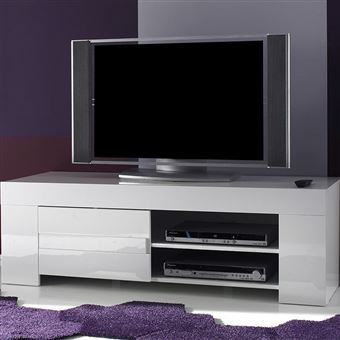 Nouvomeuble Meuble Tv Blanc Laque Design Lima Meuble Tv Achat