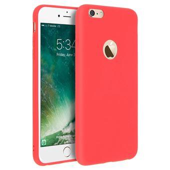 Coque Apple iPhone 6 PLUS iPhone 6S PLUS en FROST ROUGE de Cadorabo Design FROST Houe en Gel TPU Silicone Souple Ultra Mince