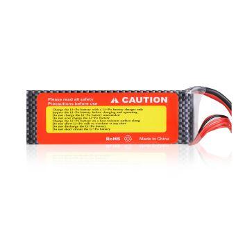 FLOUREON 22.2V 4500mAh 6S 45C Lipo RC Batterie pour RC Hélicoptère Avion Voiture