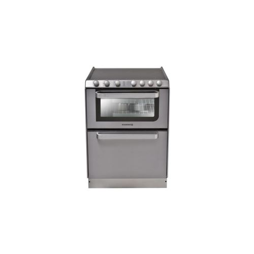 Rosières TRV60IN/U - Cuisinière - pose libre - largeur : 60 cm - profondeur : 60 cm - hauteur : 86.5 cm - inox avec lave-vaisselle