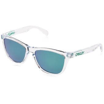 Oakley Lunettes de Soleil Frogskins Crystal CollectionPolished Clear/Jade Iridium gwDmu4Os