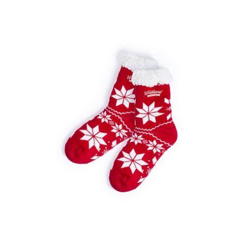 Chaussettes de Noël Antidérapantes 145918 (taille unique) (Couleur Rouge)