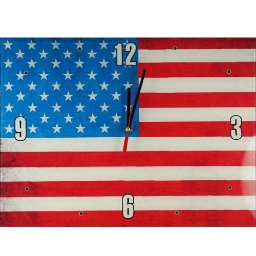 Pendule rectangulaire en verre USA