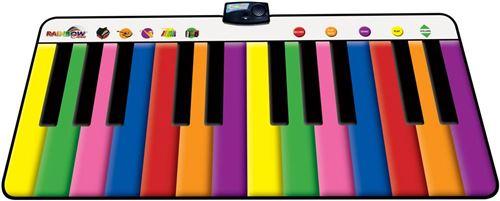 Tapis piano Rainbow géant touches colorées 24 touches