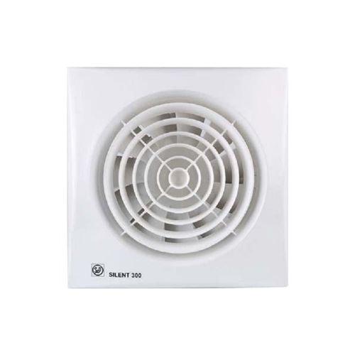 Aerateur ultra silencieux 280m3h extra plat clapet antiretour/temporisation - unelvent - blanc