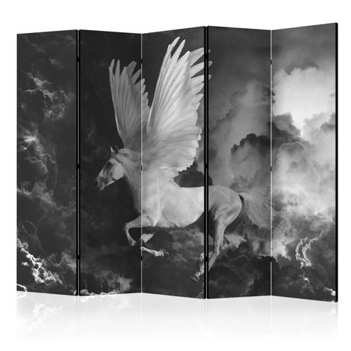 paravent 5 volets - pegasus on the way to mount olympus ii [room dividers] - artgeist - 225x172