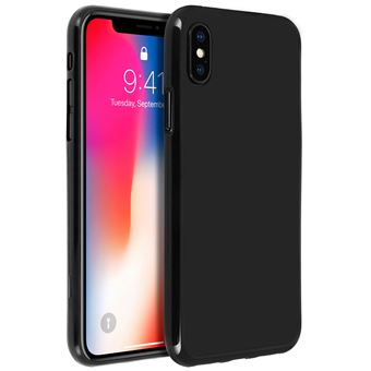 new arrival outlet for sale many styles Coque iPhone X / XS Protection Silicone gel incassable - Noir
