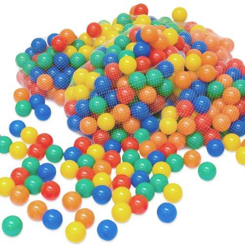 LittleTom 100 Boules de couleur Ø 6 cm de diamètre petites Balles colorées en plastique jeu jouet