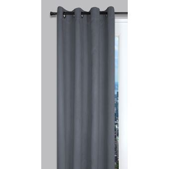 Lovely Casa R64808073 Suedine Rideau Coton Gris 135 x 260 cm - Achat ...