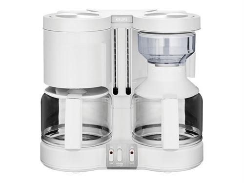 Krups Duothek Plus KM 8501 - Cafetière/théière - 20 tasses - blanc