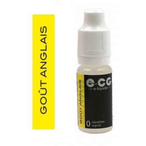 E-liquide E-CG - Goût Anglais 0 mg/ml