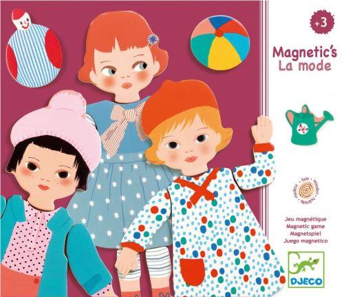 Magnetic s la mode 30 pieces - djeco - activite creative des 6 ans