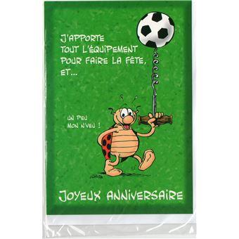 Carte D Anniversaire Enfant Gouter Sportif Football 27 Jeux D Eveil Achat Prix Fnac