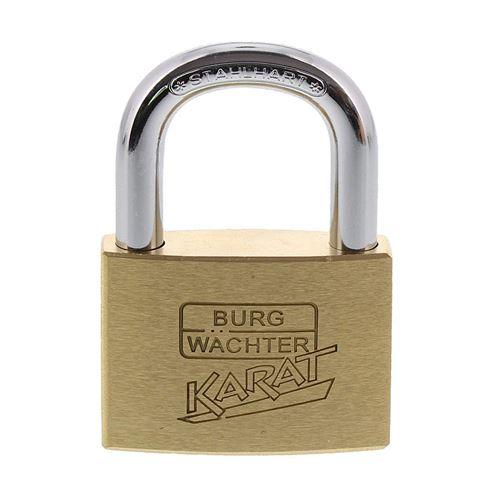Burg-Wächter Cadenas à cylindre, 8 mm d'épaisseur, Tenaille, 6 touches, avec 217 50/6, 1 pièce carat 217 50/6 SB