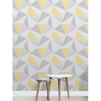 Jaune et gris papier peint géométrique de l'Apex