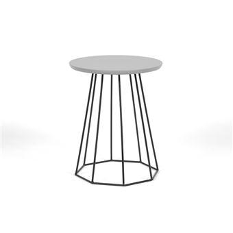 bout de canap avec plateau bois et pi tement d40cm. Black Bedroom Furniture Sets. Home Design Ideas