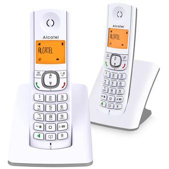 Alcatel Classic F530 Duo - Snoerloze telefoon met nummerherkenning - DECT - grijs, wit + extra handset