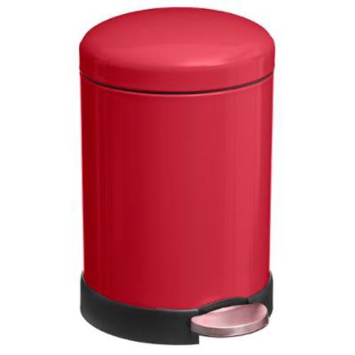 Poubelle à Pédale Colors 5L Rouge