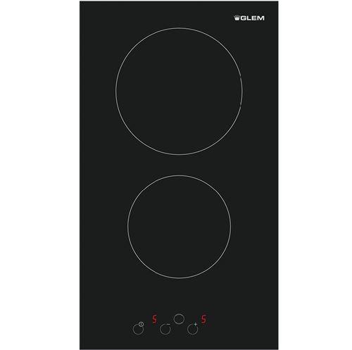 Glem GTH320SN - Vitrocéramique - 2 plaques de cuisson - Niche - largeur : 28 cm - profondeur : 49 cm - noir - sans cadre