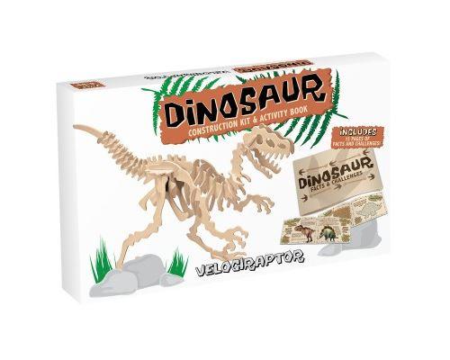 Puzzle 38 Pièces : Puzzle 3D en Bois - Velociraptor (Large), Professor Puzzle