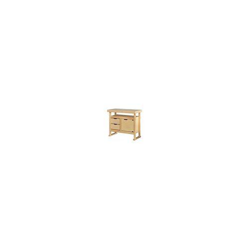 Outifrance - Etabli bois 2 tiroirs 1 porte 100*50*90