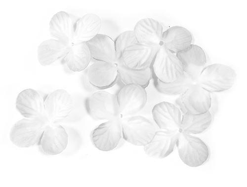 Lot de 240 pétales de fleurs en tissu Blanc - 3 cm
