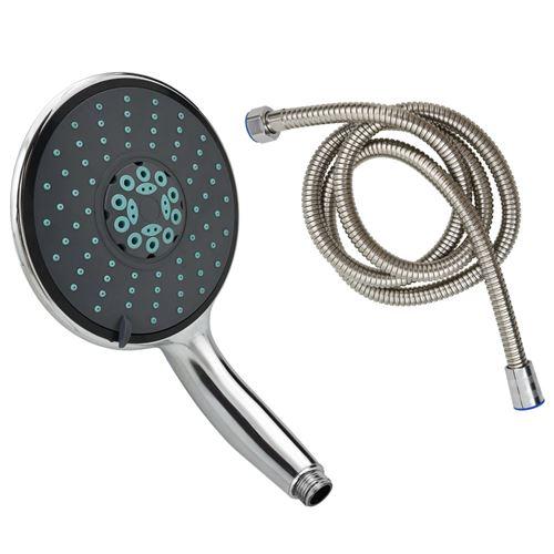 vidaXL Pomme de douche multifonctionnelle à main et tuyau 1,5 m Chrome