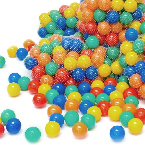 LittleTom 100 Boules de couleur Ø 7 cm de diamètre petites Balles colorées en plastique jeu jouet
