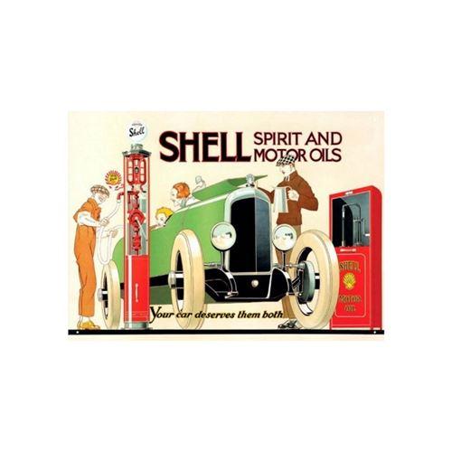 Red Hot Citron 300 x 410 mm fer blanc/métal Shell Spirit et huiles Moteur Panneau mural, Multicolore