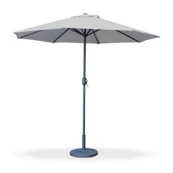 parasol led 2 7m helios gris clair m t central alice 39 s garden mobilier de jardin achat. Black Bedroom Furniture Sets. Home Design Ideas
